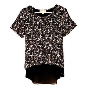 MICHAEL KORS Blouse high low double layered